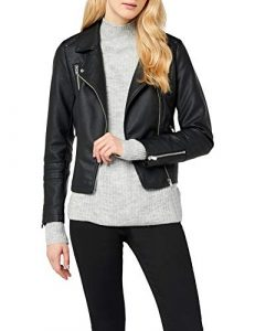 ONLY Damen Onlgemma Faux Leather Biker OTW Noos Jacke