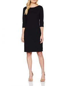 Marc O´Polo Grey Line Damen Kleid Abendkleid Cocktailkleid Knielang mit Ärmeln in schwarz elegant