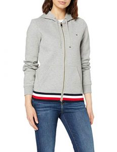 Tommy Hilfiger Damen Heritage Zip-Through Hoodie Kapuzenpullover