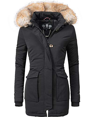 Navahoo Damen Winter-Jacke Winter-Mantel Schneeengel (vegan hergestellt) 13 Farben XS-XXL