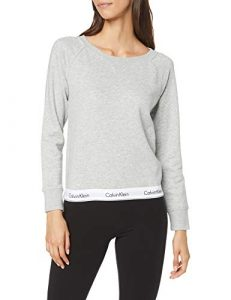 Calvin Klein Damen Top Sweatshirt Long Sleeve Langarmshirt