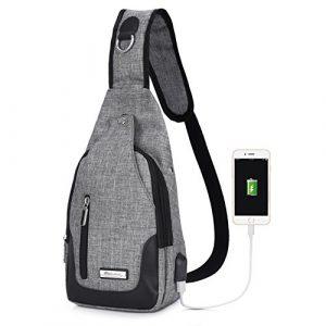 VBIGER Brusttasche Sling Rucksack Schultertasche Brusttaschen für Damen und Herren Daypack Militär Sporttasche