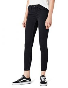 ONLY Damen onlKENDELL Eternal Ankle Black NOOS Jeanshose, Schwarz, 38/L30 (Herstellergröße: M)