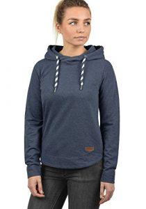 DESIRES Wandy Damen Hoodie Kapuzenpullover Pullover Mit Kapuze Und Cross-Over-Kragen