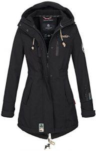 Marikoo Damen Jacke Mantel Outdoor wasserabweisend Softshell B614
