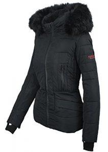 Navahoo Damen Winter Jacke warm gefüttert Teddyfell Stepp Winterjacke B361