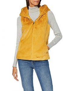 ONLY Damen Onlvida Faux Fur Hooded Waistcoat OTW Outdoor Weste