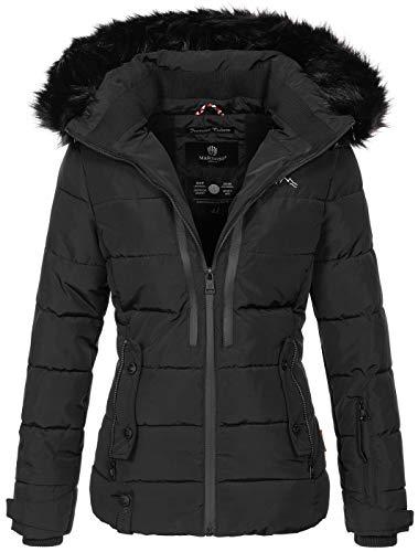 Marikoo warme Damen Winter Jacke Winterjacke Steppjacke gefüttert Kunstfell B682