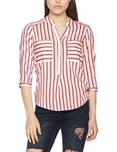 VERO MODA Damen Regular Fit Bluse VMERIKA STRIPE 3/4 SHIRT E10 NOOS 10168581