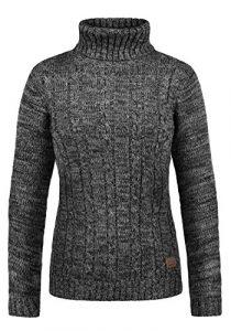 DESIRES Philipa Damen Rollkragenpullover Pullover Zopfstrick Mit Rollkragen Aus 100% Baumwolle
