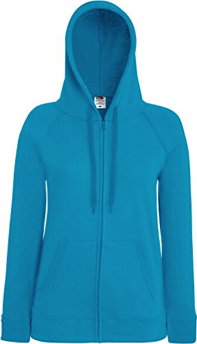 Fruit of the Loom 62150 Womens Ladies Lady-Fit Lightweight Hooded Sweat Jacket