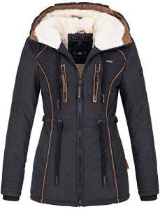 Marikoo Damen Winter Jacke warme Winterjacke Parka Mantel Teddyfell B610