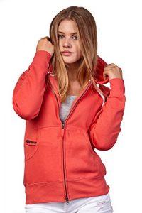 Happy Clothing Damen Sweatjacke mit Kapuze Zip Hoodie Kapuzenjacke Basic Einfarbig S M L
