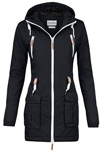 Sublevel Damen Matilda Winter Jacke Parka Mantel Winterjacke gefüttert mit Kapuze 6 Farben XS-XL