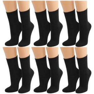 Lavazio® 6 Paar warme und kuschlige Damen Thermosocken uni schwarz und viele weitere Farben und Motive zur Auswahl