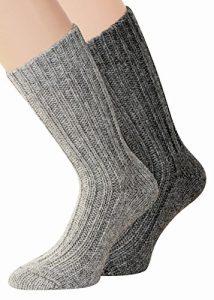 kb-Socken – 2 Paar Alpaka Socken für Herren und Damen in verschiedenen Ausführungen dick oder dünn gestrickt mit Alpaka Wolle Socken in Naturfarben