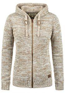DESIRES Philadelphia Damen Strickpullover Grobstrick Pullover Mit Kapuze Aus 100% Baumwolle