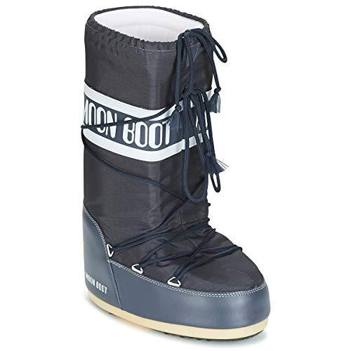 Moon Boot Nylon Stiefel Femmes Blau Schneestiefel