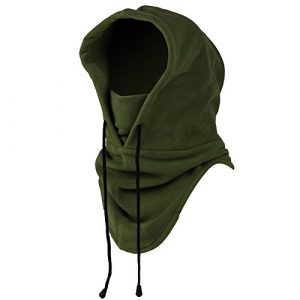 Mangotree 6 in 1 Winddichte Vollgesichtsmaske Unisex Tactical Heavyweight Sturmhaube Gesichtsmaske/Skimaske/Hooded Kopfhaube für Sport und Outdoor