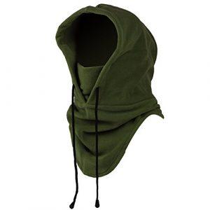 Mangotree 6 in 1 Winddichte Vollgesichtsmaske Unisex Tactical Heavyweight Sturmhaube Gesichtsmaske/Skimaske/Hooded Kopfhaube für Sport und Outdoor