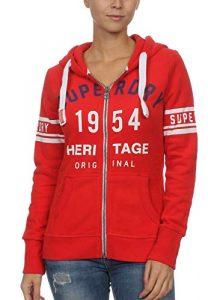 Superdry Zipper Damen 1954 Heritage Entry Zip Hood Tailgate Red