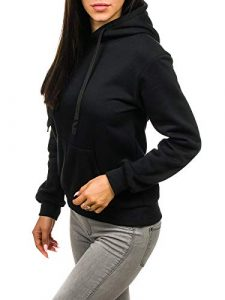 BOLF Damen Kapuzenpullover Sweatshirt mit Kapuze Hoddie Jumper Langarmshirt Kapuzenpulli A1A