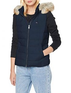 Tommy Jeans Damen Tjw Essential Hooded Down Vest Jacke