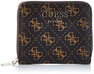 Guess Damen Logo Rock Slg Small Zip Around Münzbörse, 2x10x11 centimeters