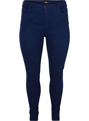 Zizzi Damen Amy Jeans Slim Fit Jeanshose Stretch Hose Große Größen 42-56