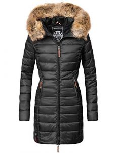Marikoo Damen Winter-Mantel Steppmantel Rose 20 Farben XS-XXL