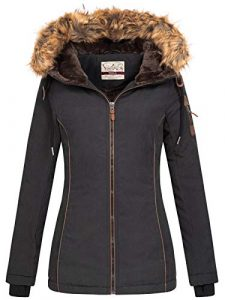 Urban Surface Damen Winterjacke Parka LUS-133 Fellkapuze