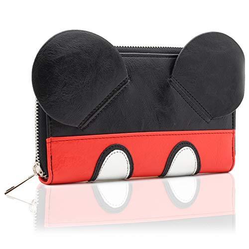 Disney Mickey Ohren Geldbörse in 3D | Große rote und schwarze Brieftasche | Geburtstagsgeschenke | Merchandise 100% lizenziert