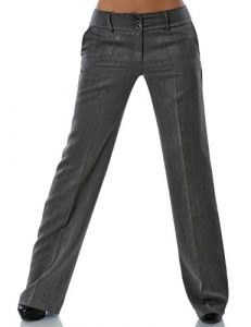 Damen Business Hose Straight Leg DA 13572