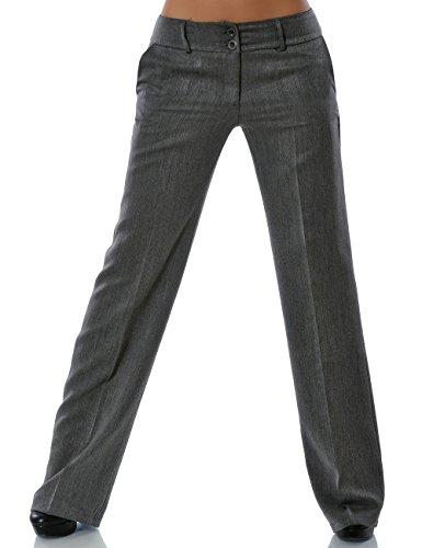 Damen Business Hose Straight Leg DA 13572