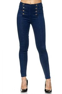Elara Damen Jeans Skinny High Waist Hose Chunkyrayan
