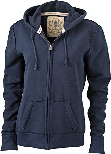 James & Nicholson JN942 Ladies´ Vintage Hoody Jacke Sweatjacke Sweatshirt Kapuze