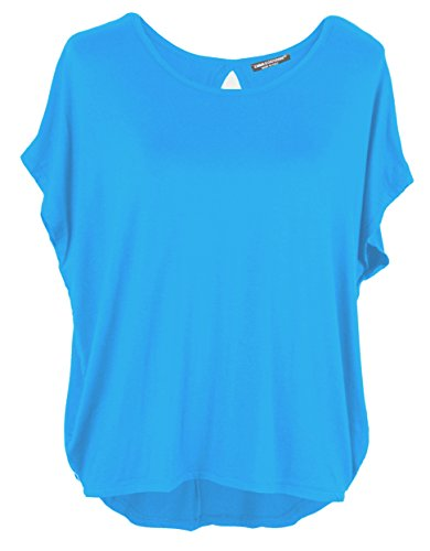 Emma & Giovanni - Basic Sommer T-Shirt/Oberteile Kurzarm (Made In Italy) - Damen