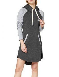 SMILODOX Damen Sweatkleid Enjoy | Hoodie Kleid für Sport Fitness & Freizeit | Oversize Kapuzenpullover | Pullover – Sportpullover – Sweatshirt