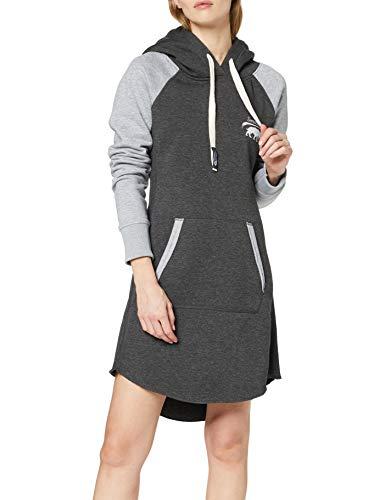 SMILODOX Damen Sweatkleid Enjoy | Hoodie Kleid für Sport Fitness & Freizeit | Oversize Kapuzenpullover | Pullover - Sportpullover - Sweatshirt