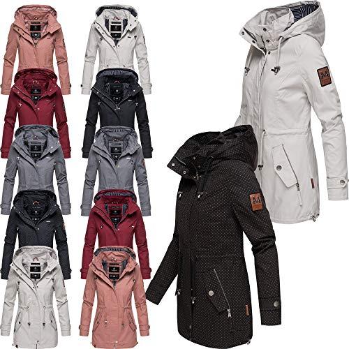 Marikoo Damen Jacke Frühling Übergangsjacke Print Parka Mantel Kapuze Nyokoo XS - XXL 6 Farben 2019