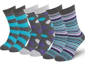 Easton Marlowe 6 Paar Bunt Gemusterte Herren Socken, Europäische Qualität